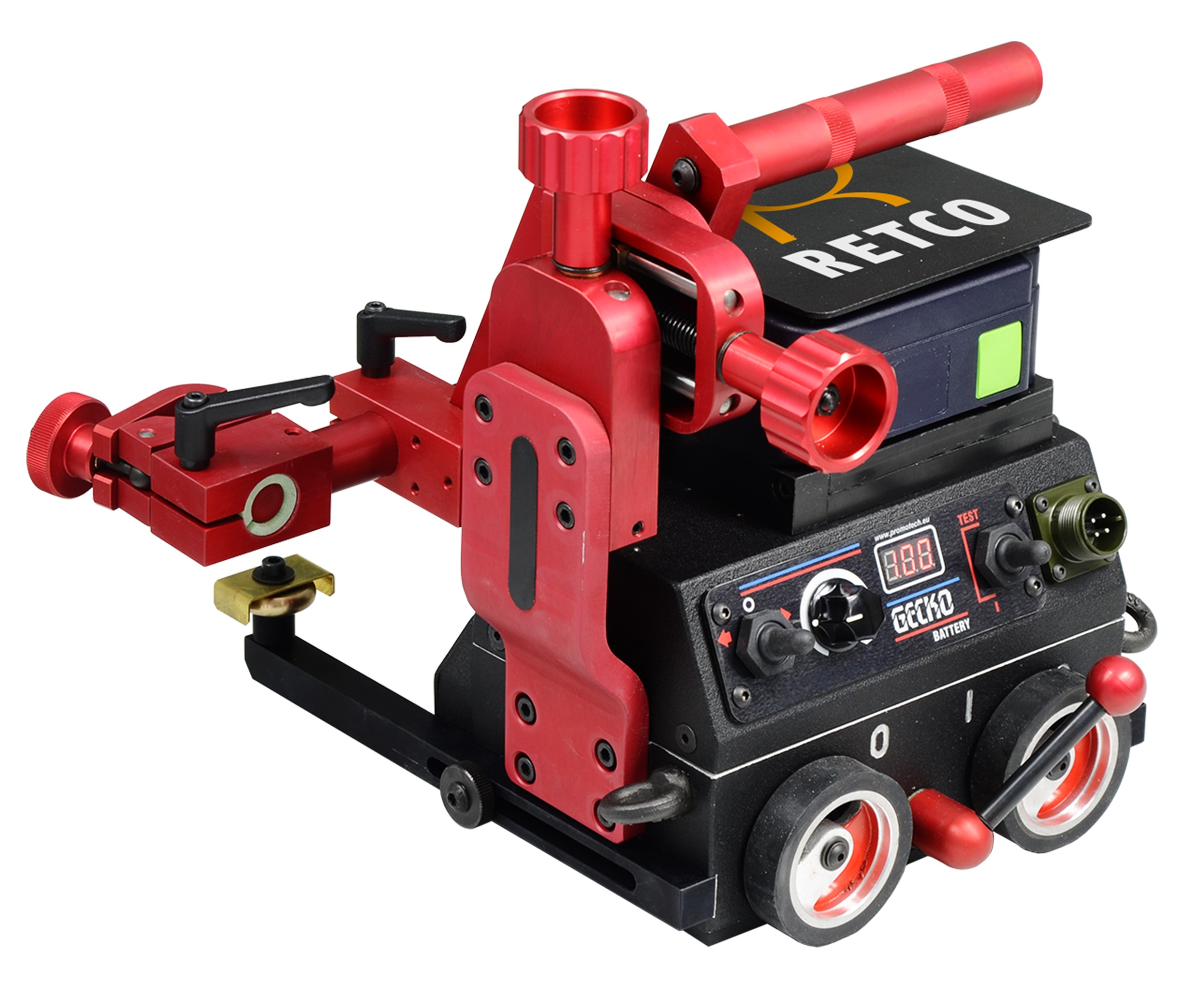 Gecko Battery pienahitsauslaite työtehtävien mekanisoimiseen ja näin ollen tuottavuuden nostamiseen.